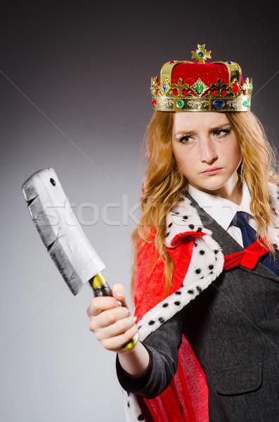 Mujer reina mujer de negocios hacha trabajo empresario Foto stock © Elnur