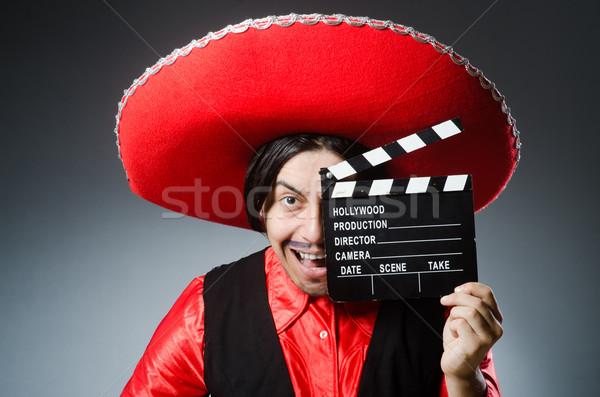 Pessoa sombrero seis engraçado homem Foto stock © Elnur