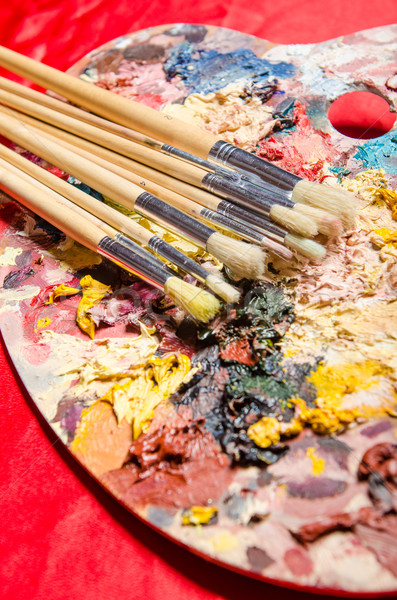 アーティスト パレット 芸術 水 学校 塗料 ストックフォト © Elnur