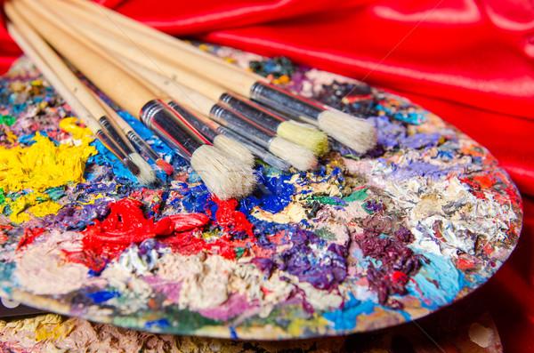 Artista palette arte design frame verde Foto d'archivio © Elnur