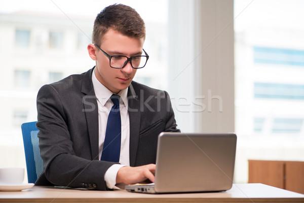 Biznesmen pracy formalności biuro pracy domu Zdjęcia stock © Elnur