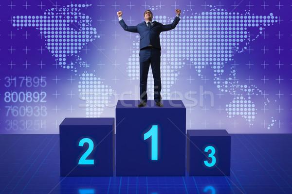 Empresário primeiro lugar competição esportes corporativo Foto stock © Elnur