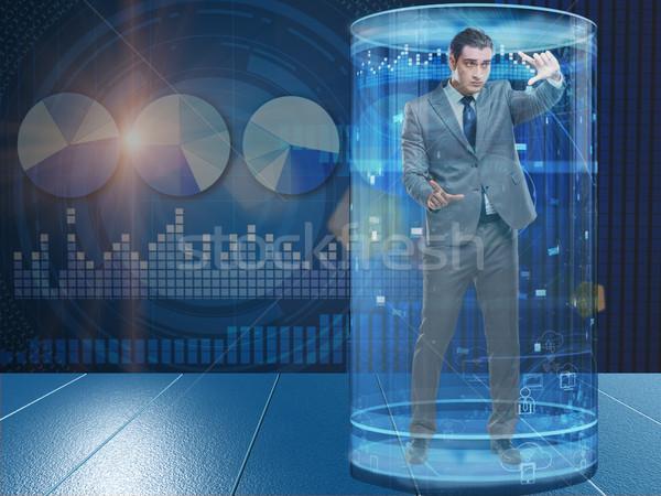 Homem bolsa de valores comércio dinheiro trabalhar empresário Foto stock © Elnur