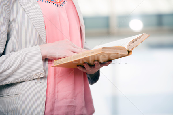 The young student reading book in preparation for exams Stock photo © Elnur