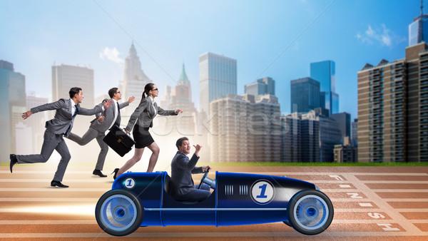 Verseny üzletemberek versenyző sport üzletember sebesség Stock fotó © Elnur