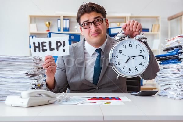 Biznesmen brakujący terminy pracy działalności człowiek Zdjęcia stock © Elnur