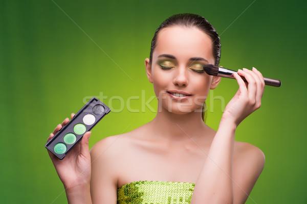 Fiatal nő szépség zöld szem szemek portré Stock fotó © Elnur