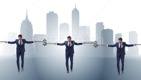 Blockchain concept with businessmen holding hands Stock photo © Elnur