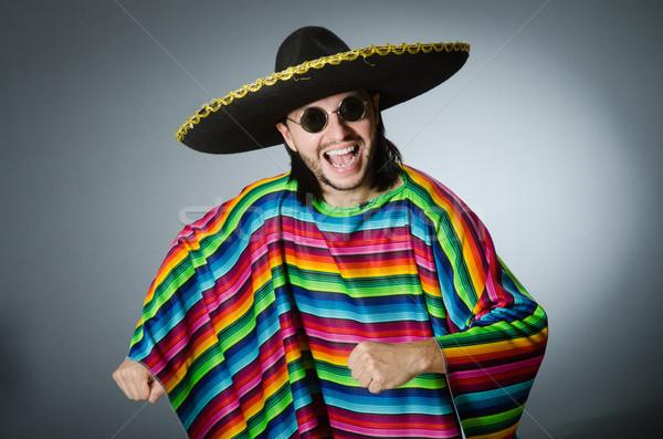 Człowiek żywy mexican szary odizolowany tle Zdjęcia stock © Elnur