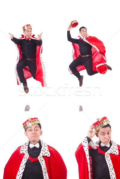 Imprenditore corona isolato bianco uomo divertimento Foto d'archivio © Elnur