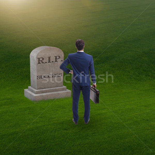 Businessman mourning the death of success Stock photo © Elnur