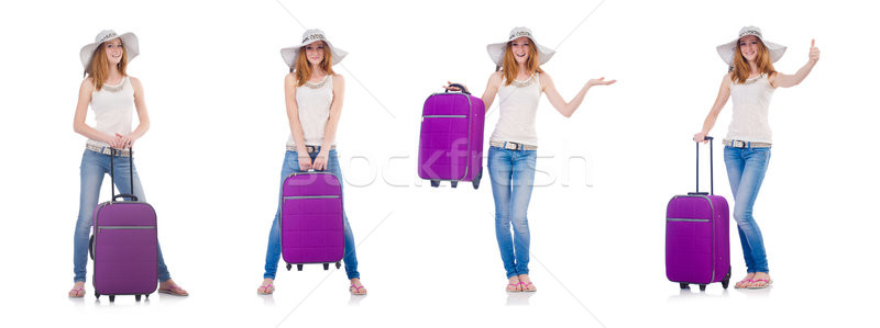 Woman planning to go on summer vacation Stock photo © Elnur