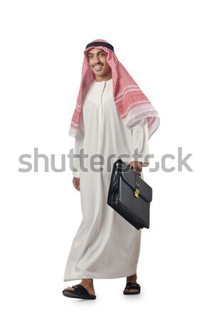 Arab man tied up with rope on white Stock photo © Elnur