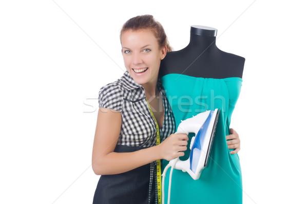 Kobieta krawiec pracy biały pracy model Zdjęcia stock © Elnur