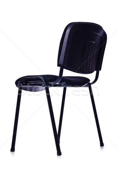 Zwarte bureaustoel geïsoleerd witte kantoor zomer Stockfoto © Elnur