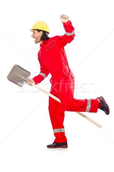 Uomo rosso vanga lavoro giardino industria Foto d'archivio © Elnur