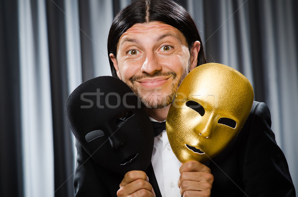 Divertente teatrale maschera faccia triste facce Foto d'archivio © Elnur