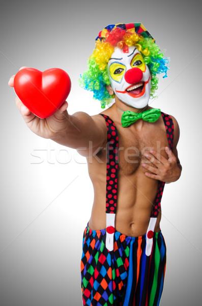 Clown hart geïsoleerd witte verjaardag leuk Stockfoto © Elnur