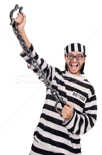Börtön bennlakó izolált fehér boldog jókedv Stock fotó © Elnur