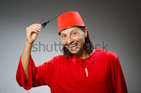 Gladiator with butcher's knife isolated on white Stock photo © Elnur