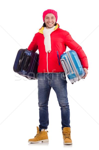 Uomo inverno vacanze imprenditore viaggio Hat Foto d'archivio © Elnur