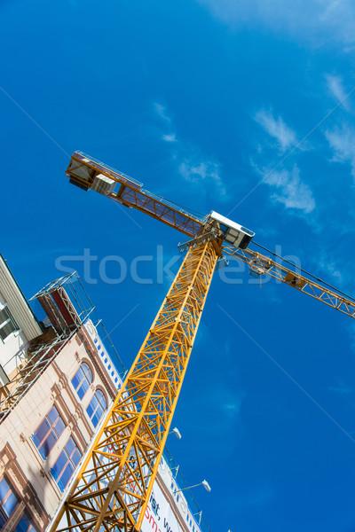 建設 クレーン 建物 ウィンドウ ケーブル 産業 ストックフォト © Elnur