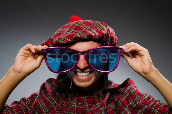 Funny scotsman in traditional clothing Stock photo © Elnur