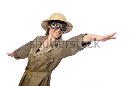 Funny safari cazador naturaleza juego masculina Foto stock © Elnur