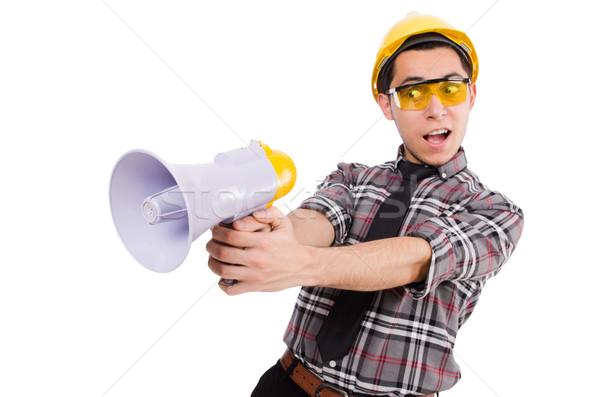 Construcción supervisor megáfono hombre fondo Foto stock © Elnur