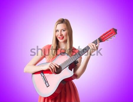 Mulher bandido arma curta branco sensual modelo Foto stock © Elnur