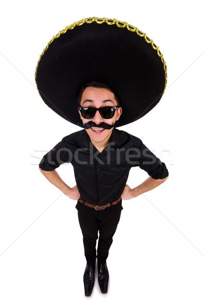 Engraçado homem mexicano sombrero seis Foto stock © Elnur
