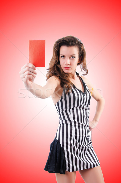 Woman judge against the gradient Stock photo © Elnur