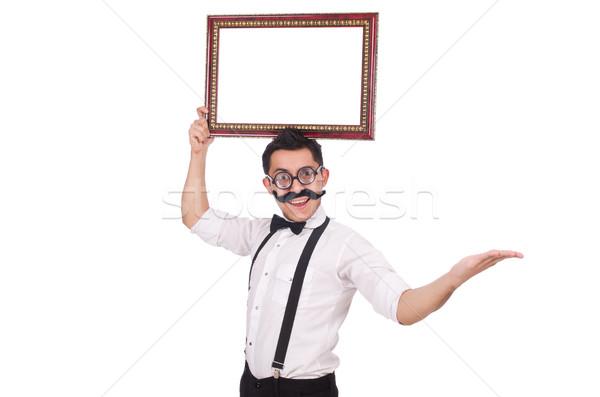 Fiatalember keret izolált fehér férfi háttér Stock fotó © Elnur
