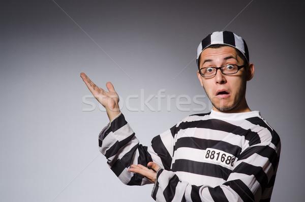 Grappig gevangene geïsoleerd grijs bril zwarte Stockfoto © Elnur