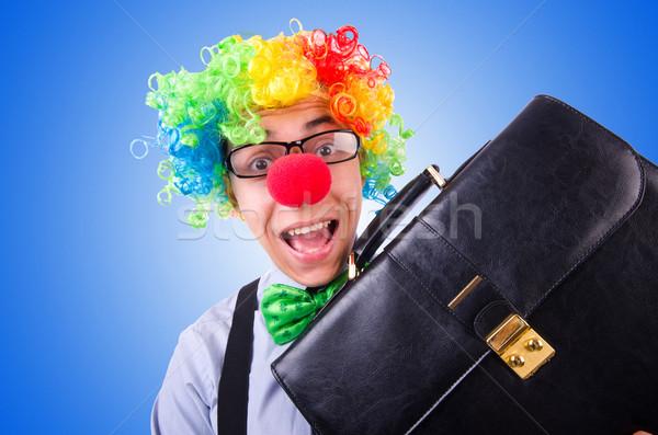 Clown zakenman geïsoleerd witte partij gelukkig Stockfoto © Elnur