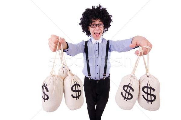 Funny guy isolated on the white background Stock photo © Elnur