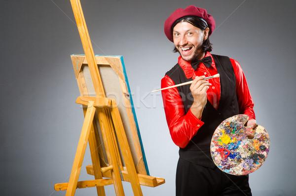 Adam sanatçı sanat çalışmak öğrenci boya Stok fotoğraf © Elnur