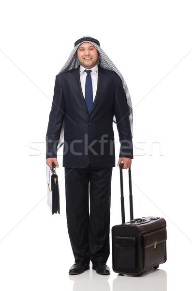 árabes hombre equipaje blanco negocios Asia Foto stock © Elnur