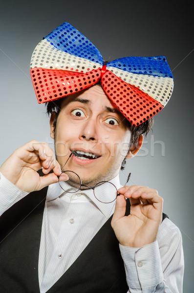 Engraçado homem gigante óculos diversão Foto stock © Elnur