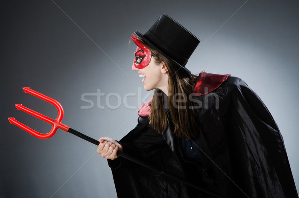 Funny devil in halloween concept Stock photo © Elnur
