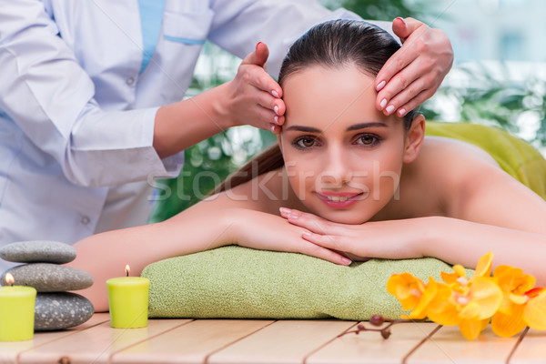 The young woman during massage session Stock photo © Elnur