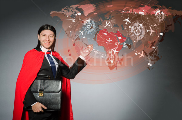 The superman concept with man in red cover Stock photo © Elnur