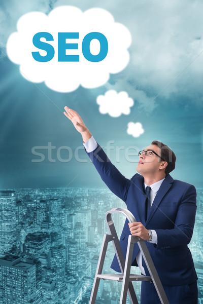 üzletember seo keresőoptimalizálás internet hálózat háló Stock fotó © Elnur