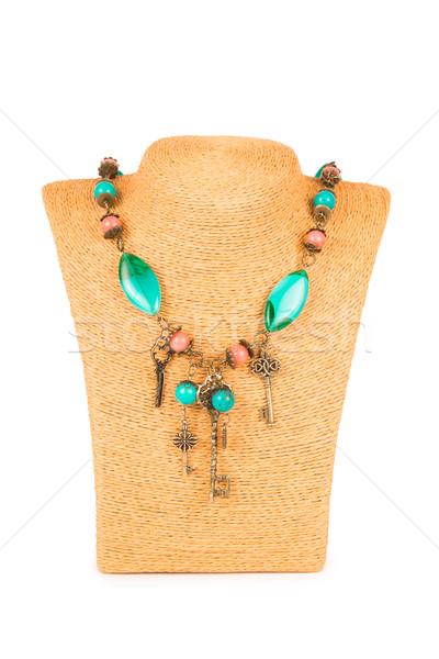 ювелирных ожерелье изолированный белый аннотация фон Сток-фото © Elnur