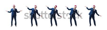 Biznesmen dynamit odizolowany biały człowiek tle Zdjęcia stock © Elnur