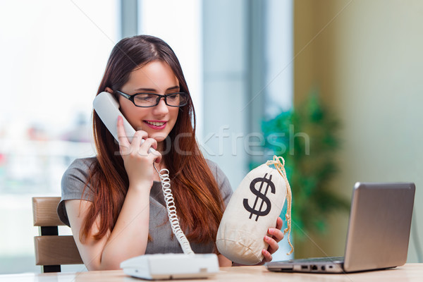 Young girl in online business concept Stock photo © Elnur