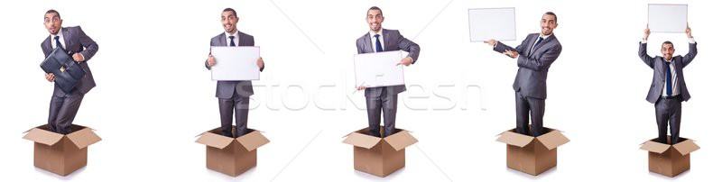 The thinking out of box concept Stock photo © Elnur