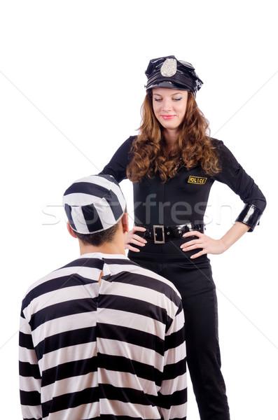 警察 刑務所 受刑者 白 女性 男 ストックフォト © Elnur