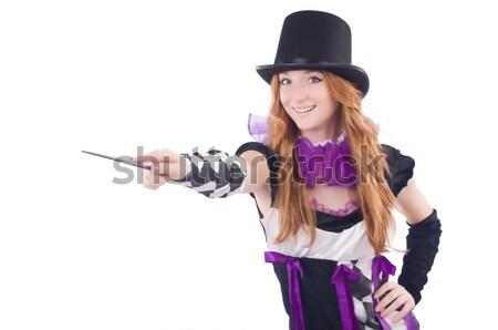 Gangster arma blanco mujer sexy Foto stock © Elnur