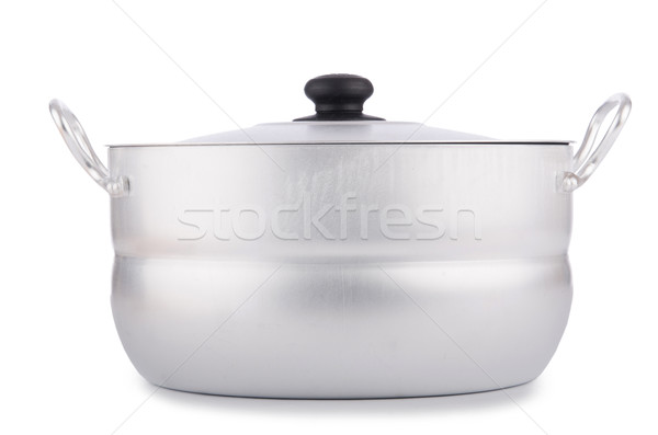 Aluminum pot isolated on the white Stock photo © Elnur